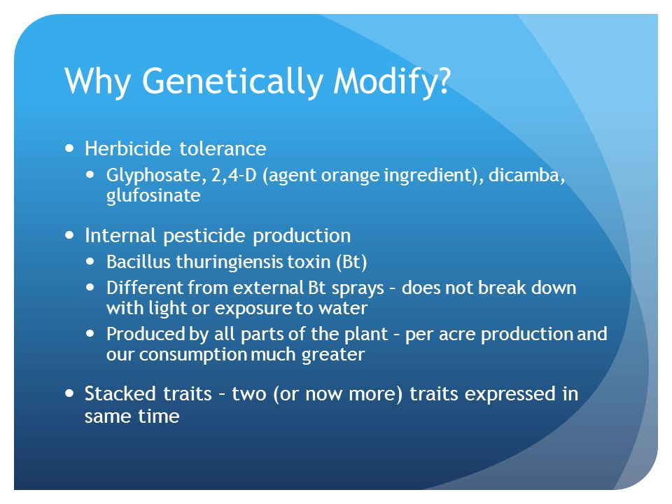 Why Genetically Modify
