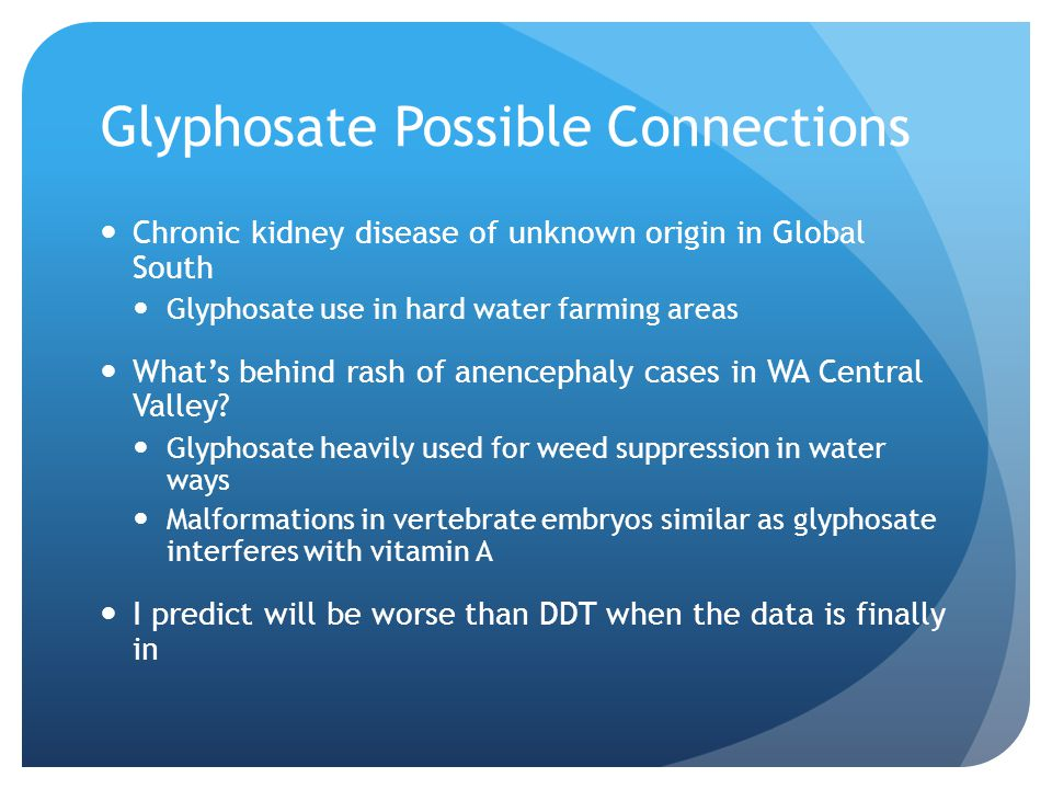Glyphosate Possible Connections