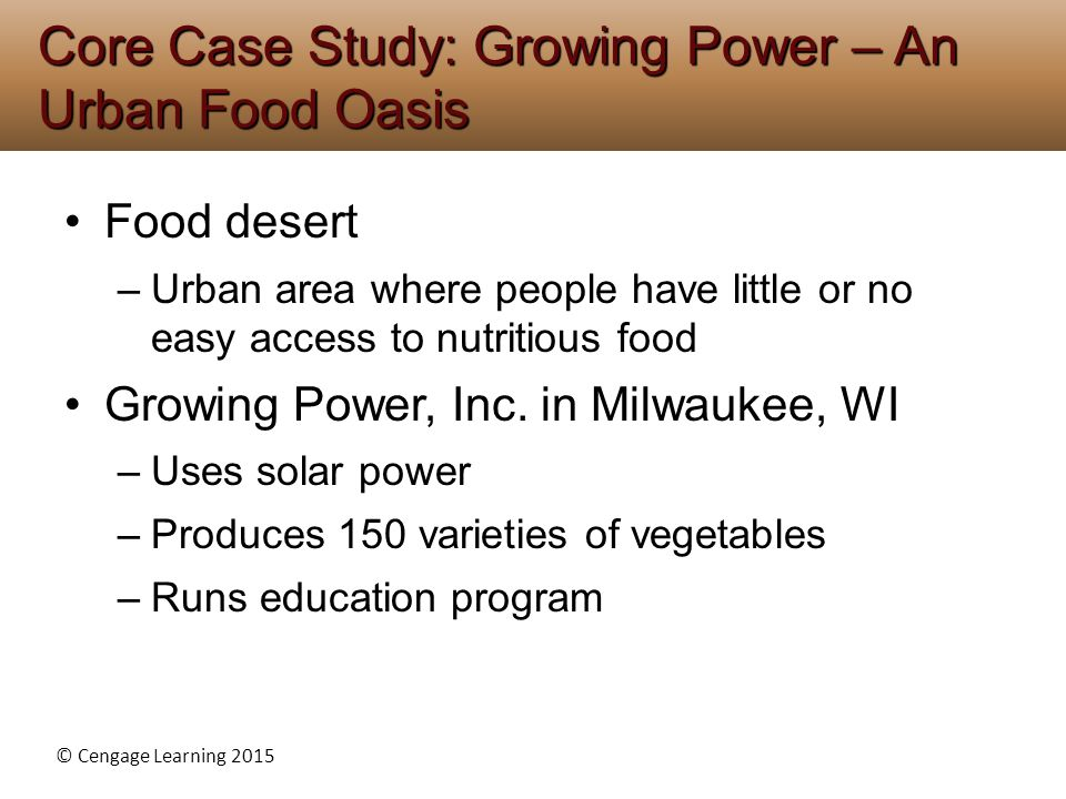 Core Case Study: Growing Power – An Urban Food Oasis