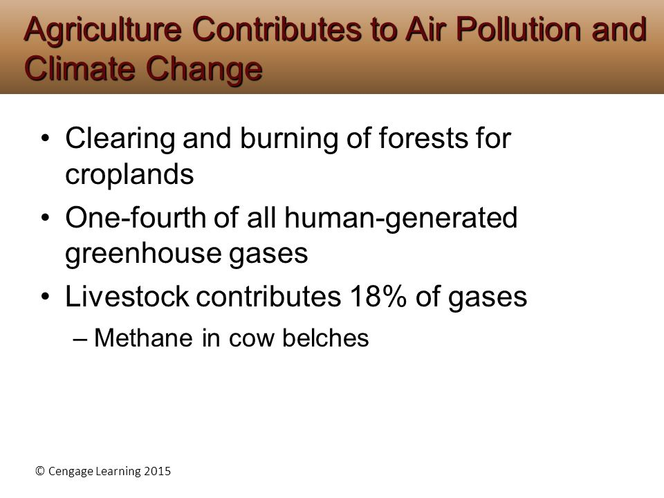 Agriculture Contributes to Air Pollution and Climate Change