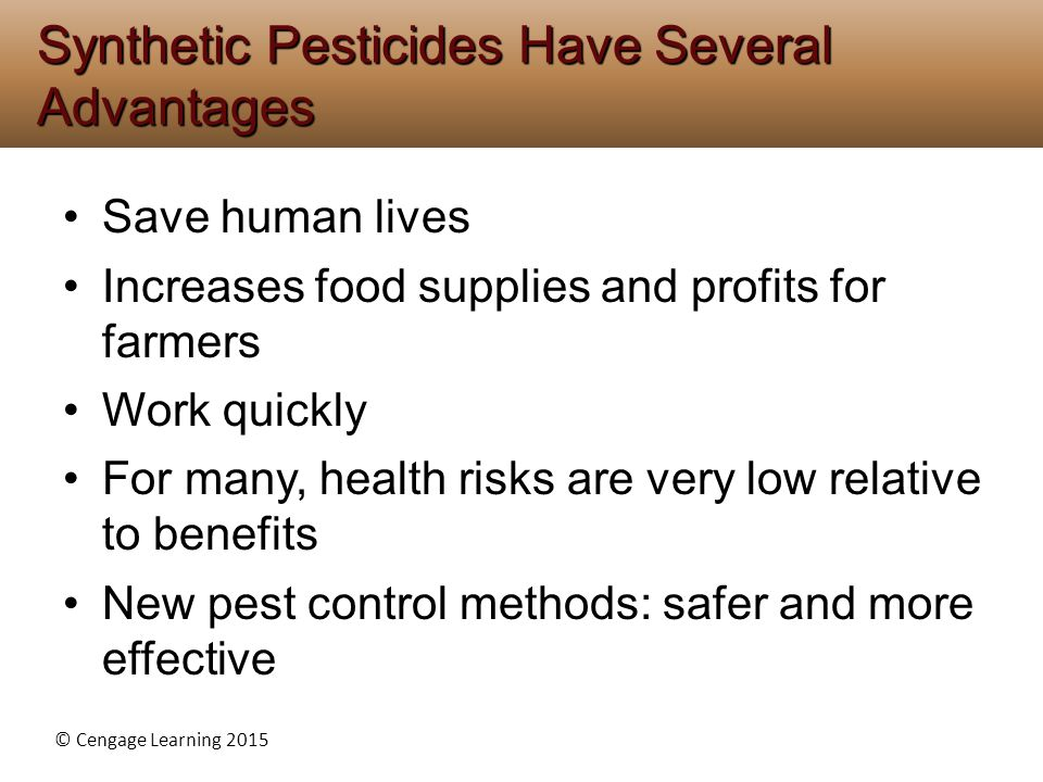 Synthetic Pesticides Have Several Advantages