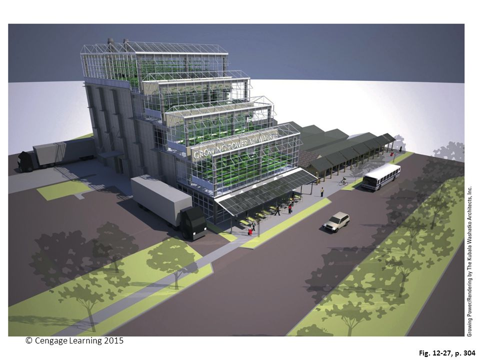 Figure 12-27: A vertical farm building that could be used to grow a diversity of crops.