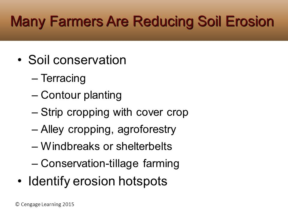 Many Farmers Are Reducing Soil Erosion