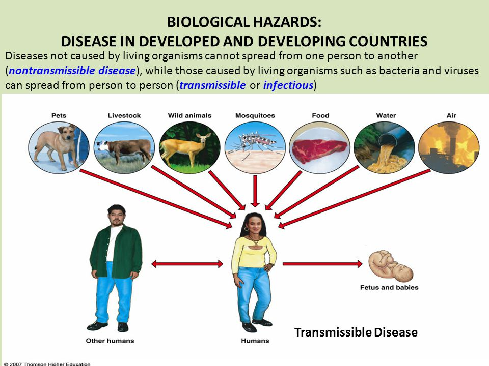 BIOLOGICAL HAZARDS: DISEASE IN DEVELOPED AND DEVELOPING COUNTRIES