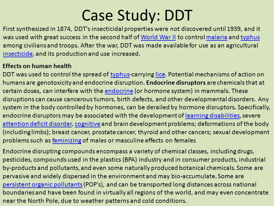Case Study: DDT