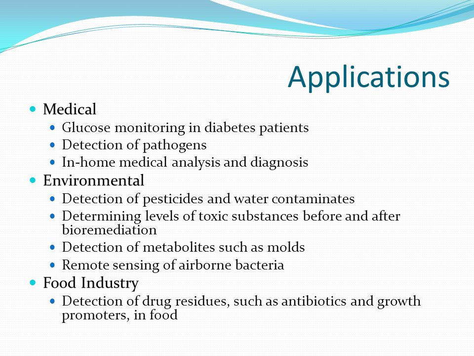 Applications Medical Environmental Food Industry