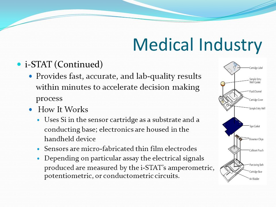 Medical Industry i-STAT (Continued)