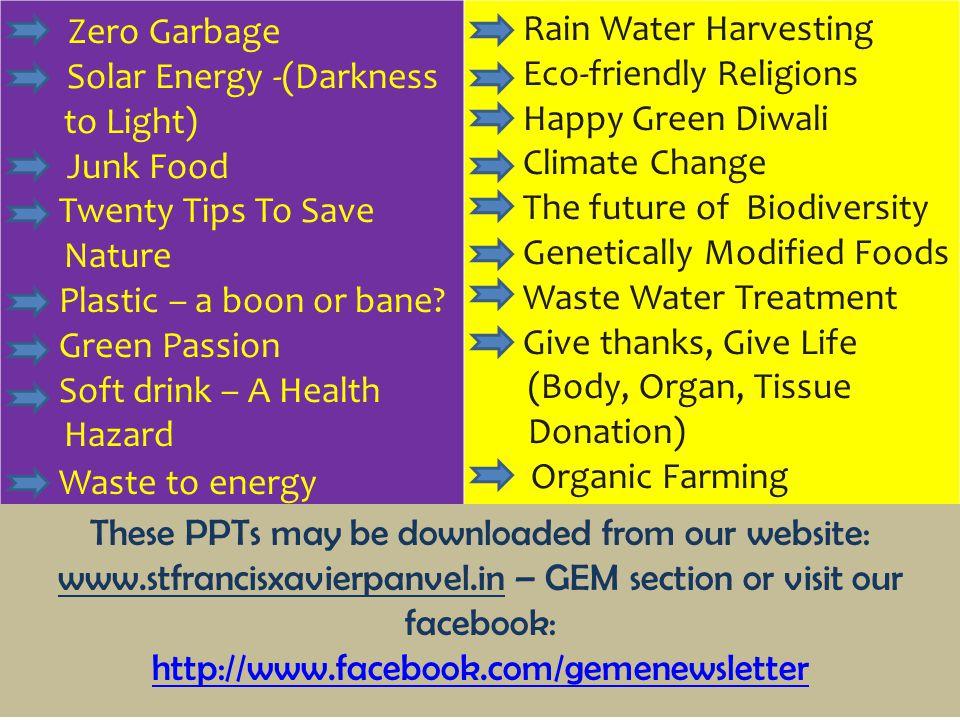 Zero Garbage Rain Water Harvesting Solar Energy -(Darkness to Light)