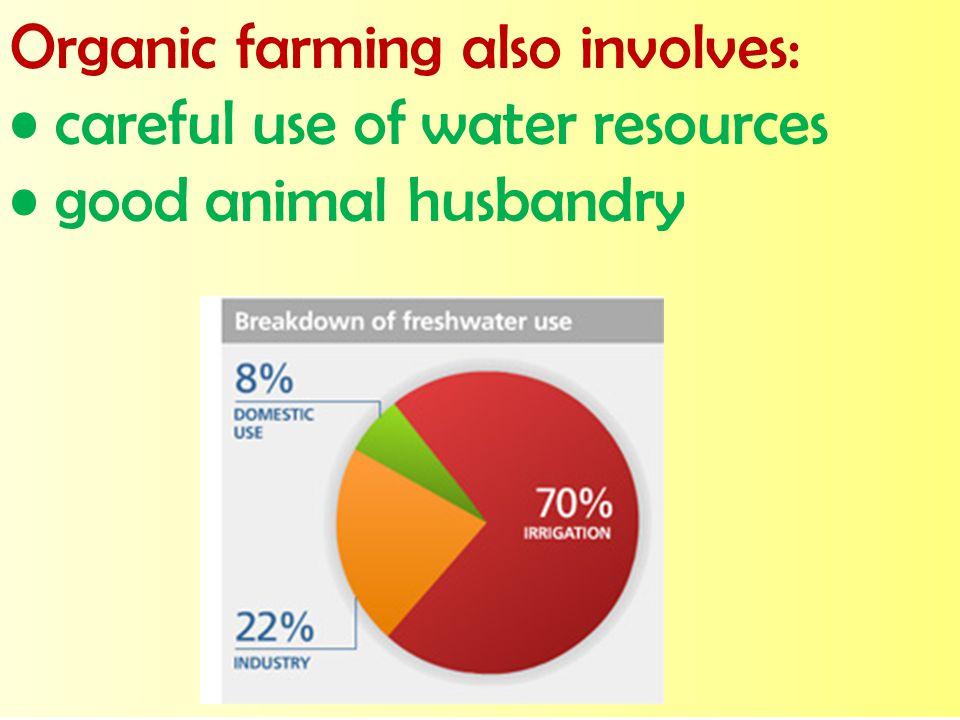 Organic farming also involves: