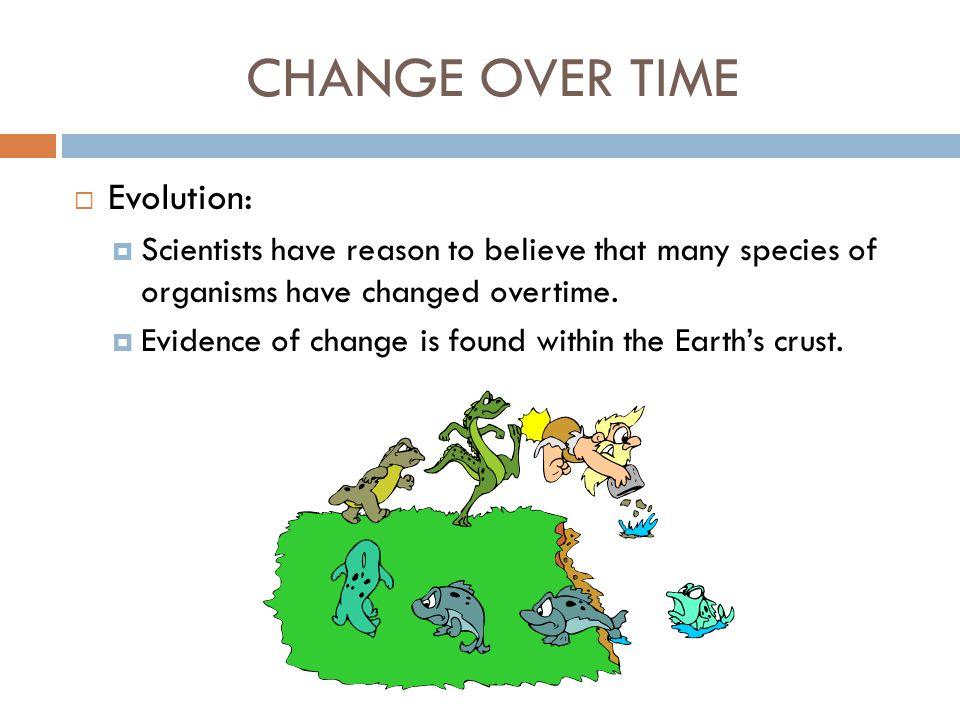 CHANGE OVER TIME Evolution: