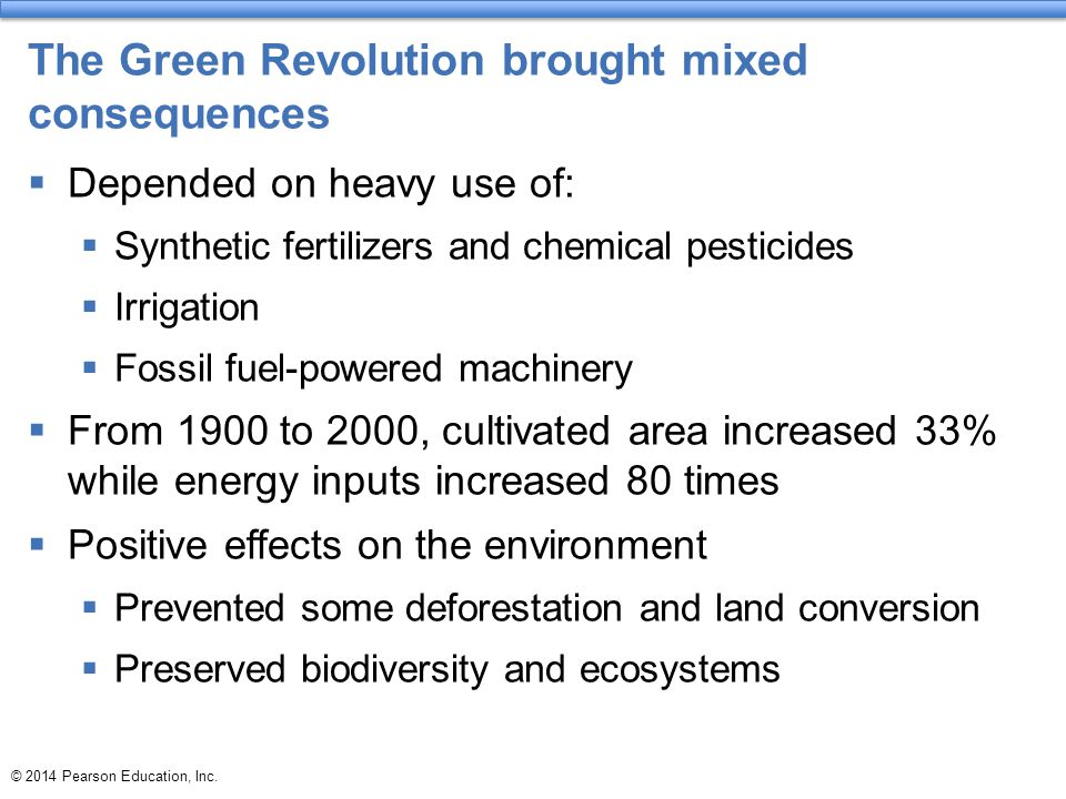 The Green Revolution brought mixed consequences