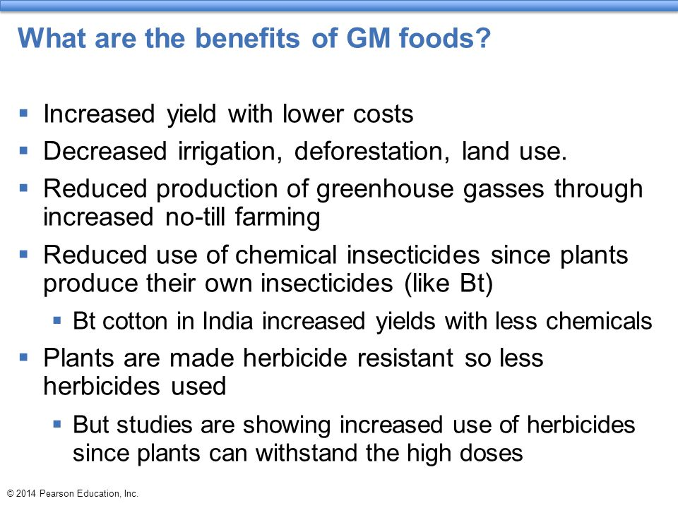 What are the benefits of GM foods