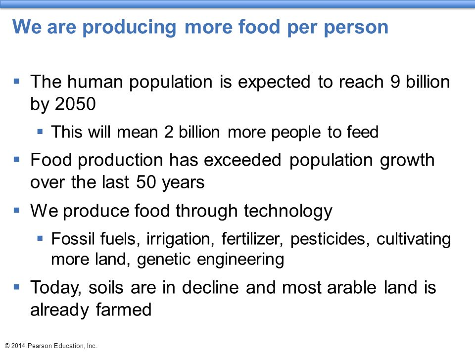 We are producing more food per person