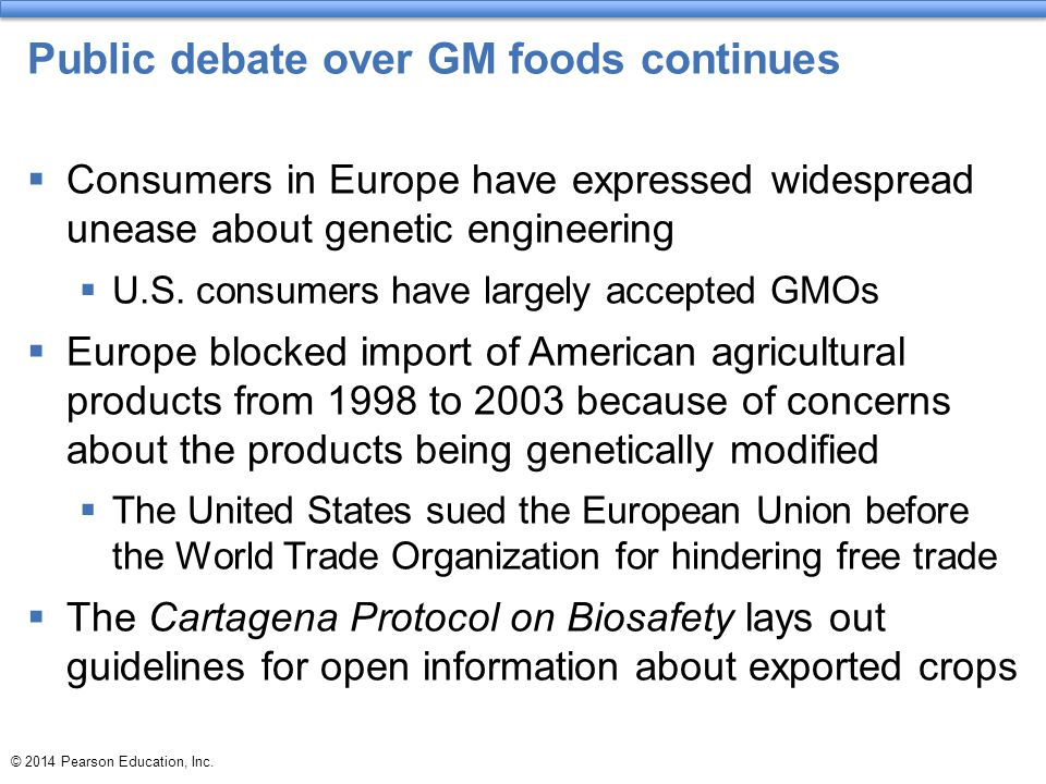 Public debate over GM foods continues