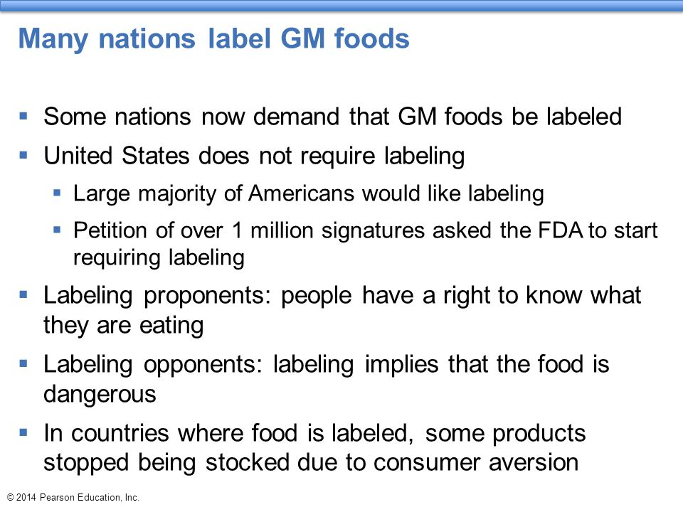 Many nations label GM foods