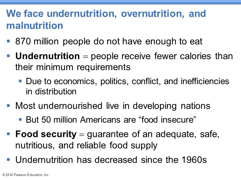 We face undernutrition, overnutrition, and malnutrition