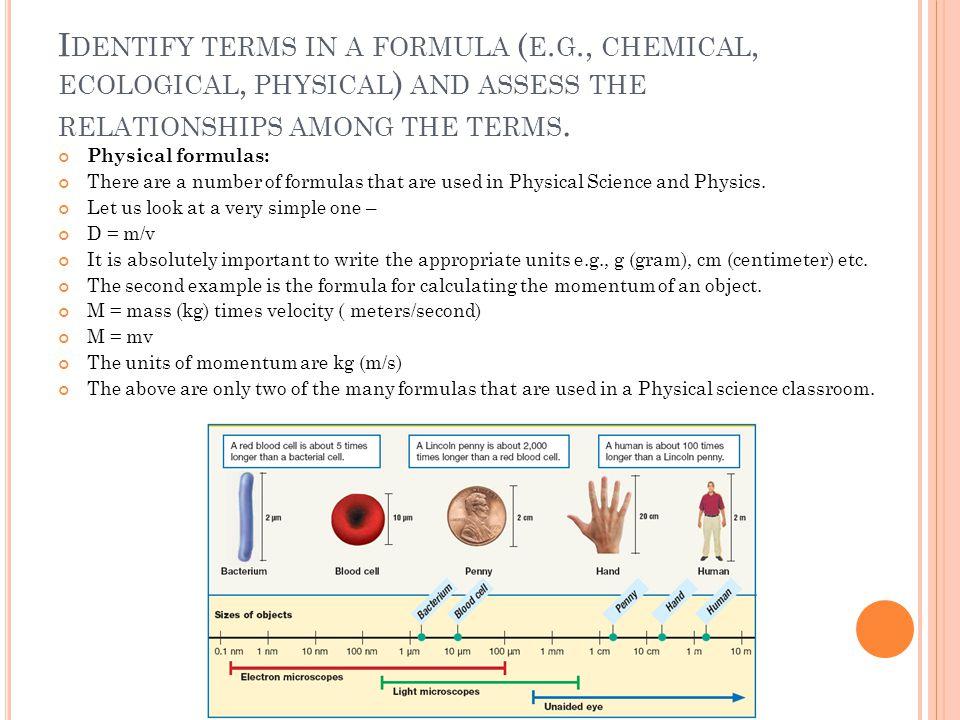 Identify terms in a formula (e. g
