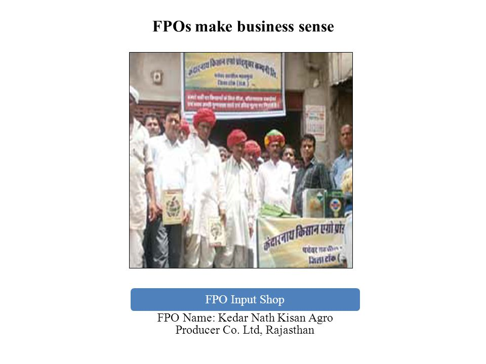 FPOs make business sense
