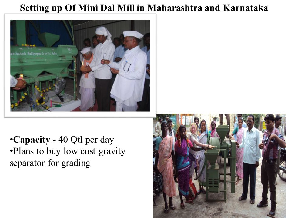 Setting up Of Mini Dal Mill in Maharashtra and Karnataka
