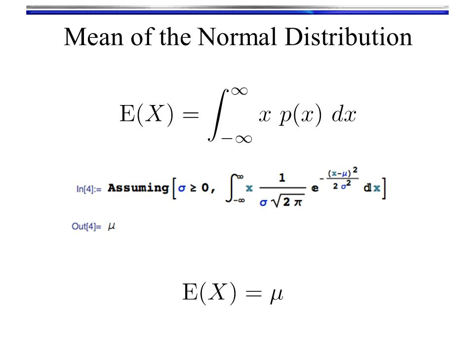 Mean of the Normal Distribution