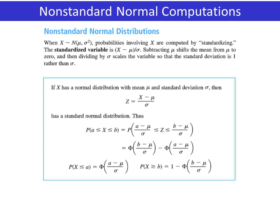 Nonstandard Normal Computations