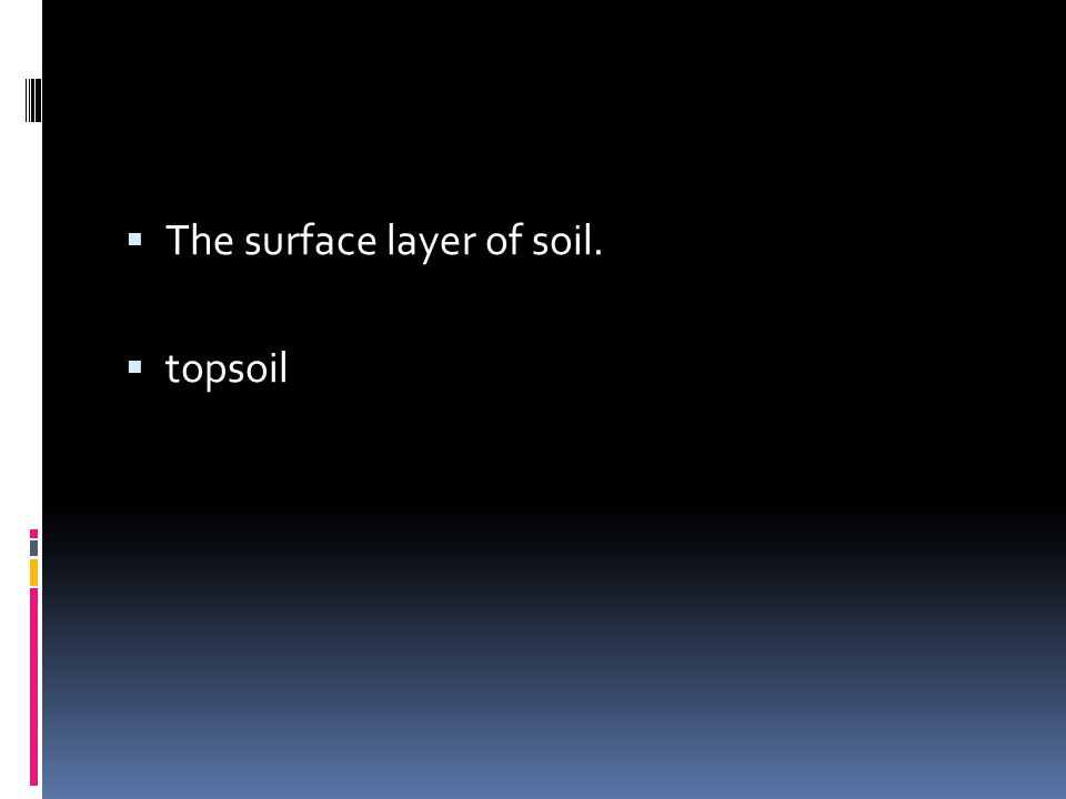 The surface layer of soil.
