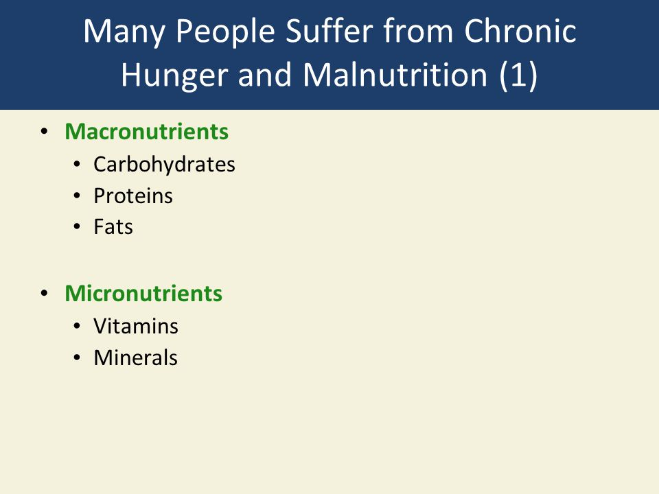 Many People Suffer from Chronic Hunger and Malnutrition (1)