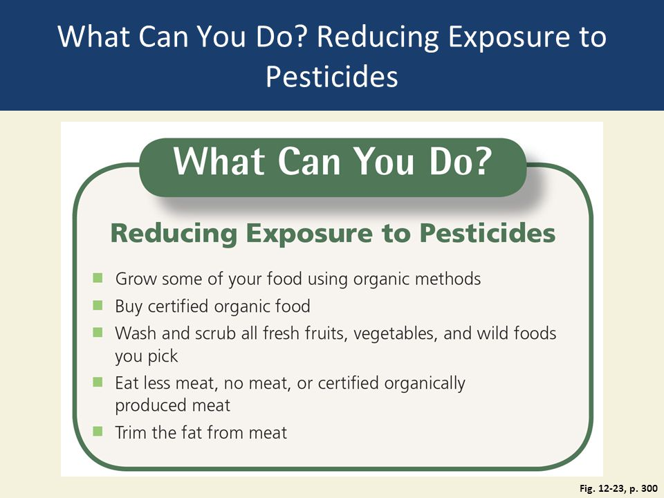 What Can You Do Reducing Exposure to Pesticides