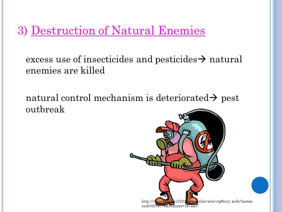 3) Destruction of Natural Enemies