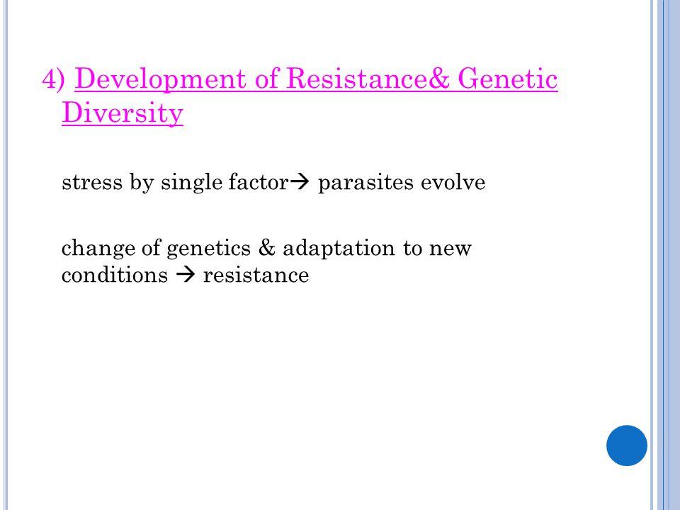 4) Development of Resistance& Genetic Diversity
