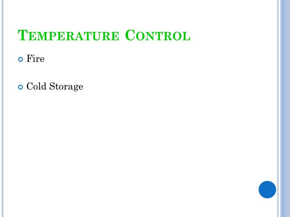 Temperature Control Fire Cold Storage