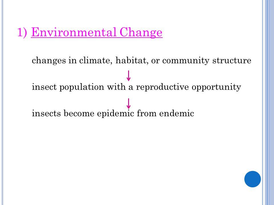1) Environmental Change