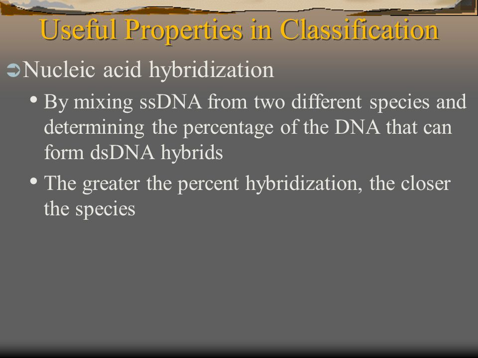 Useful Properties in Classification