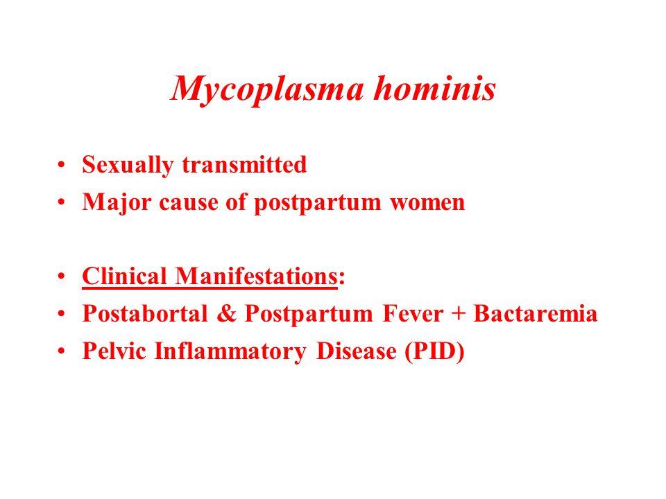 Mycoplasma hominis Sexually transmitted