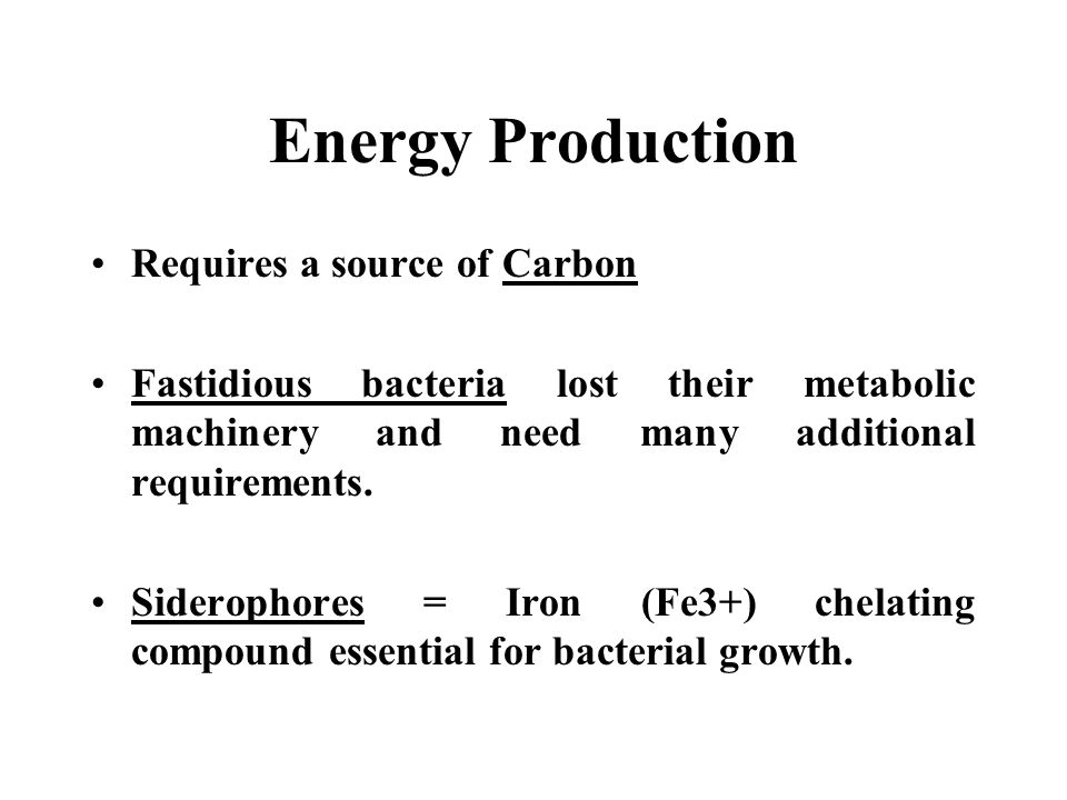 Energy Production Requires a source of Carbon