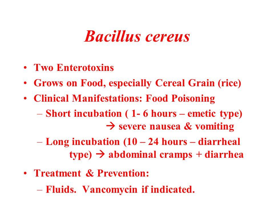Bacillus cereus Two Enterotoxins
