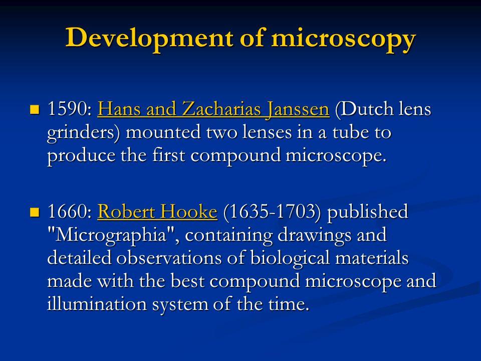 Development of microscopy