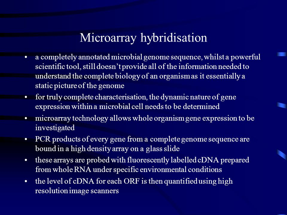 Microarray hybridisation