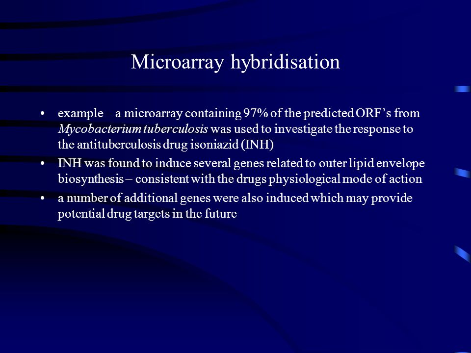 Microarray hybridisation