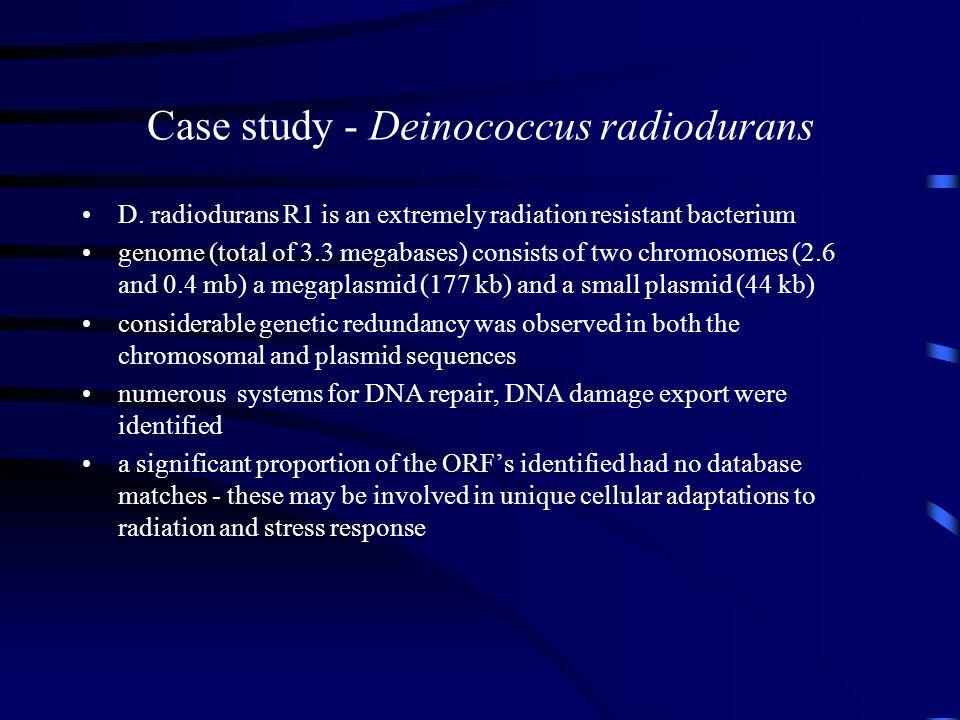 Case study - Deinococcus radiodurans