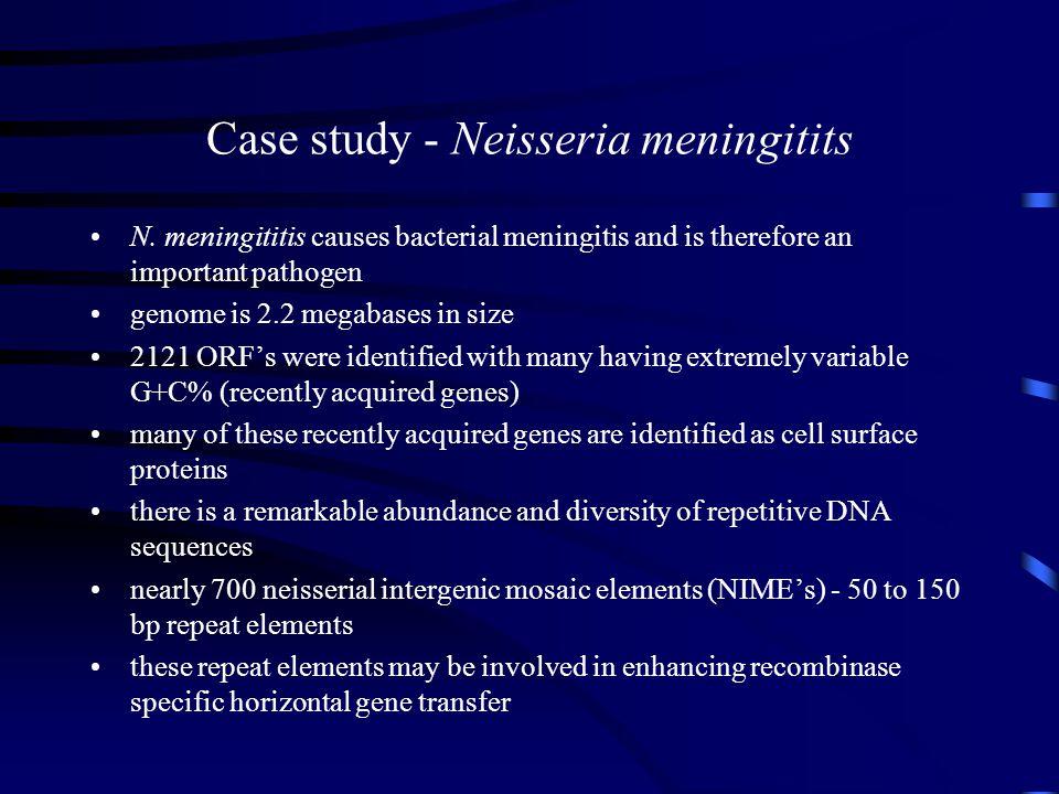 Case study - Neisseria meningitits