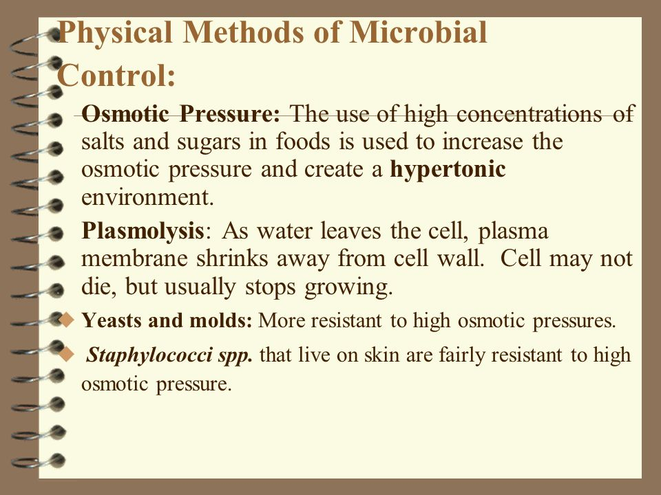 Physical Methods of Microbial Control: