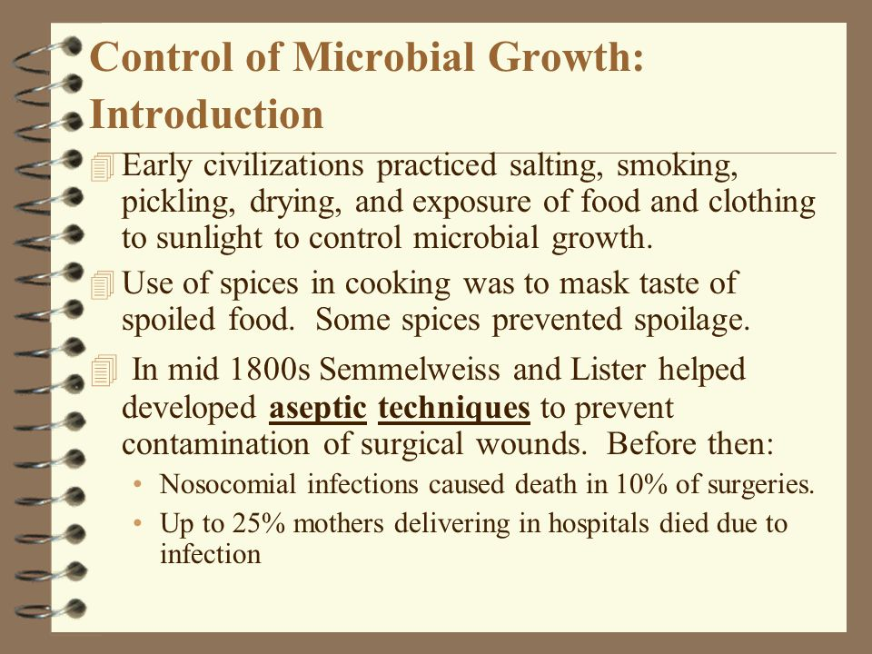Control of Microbial Growth: Introduction