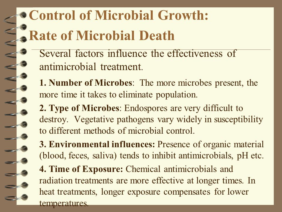 Control of Microbial Growth: Rate of Microbial Death