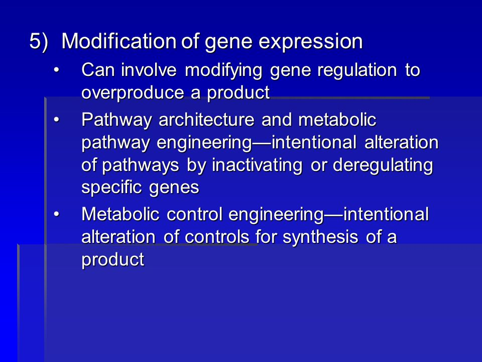 Modification of gene expression