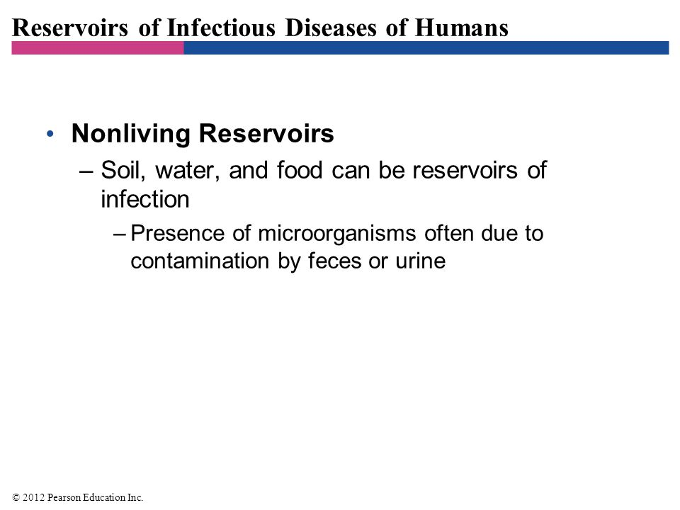 Reservoirs of Infectious Diseases of Humans