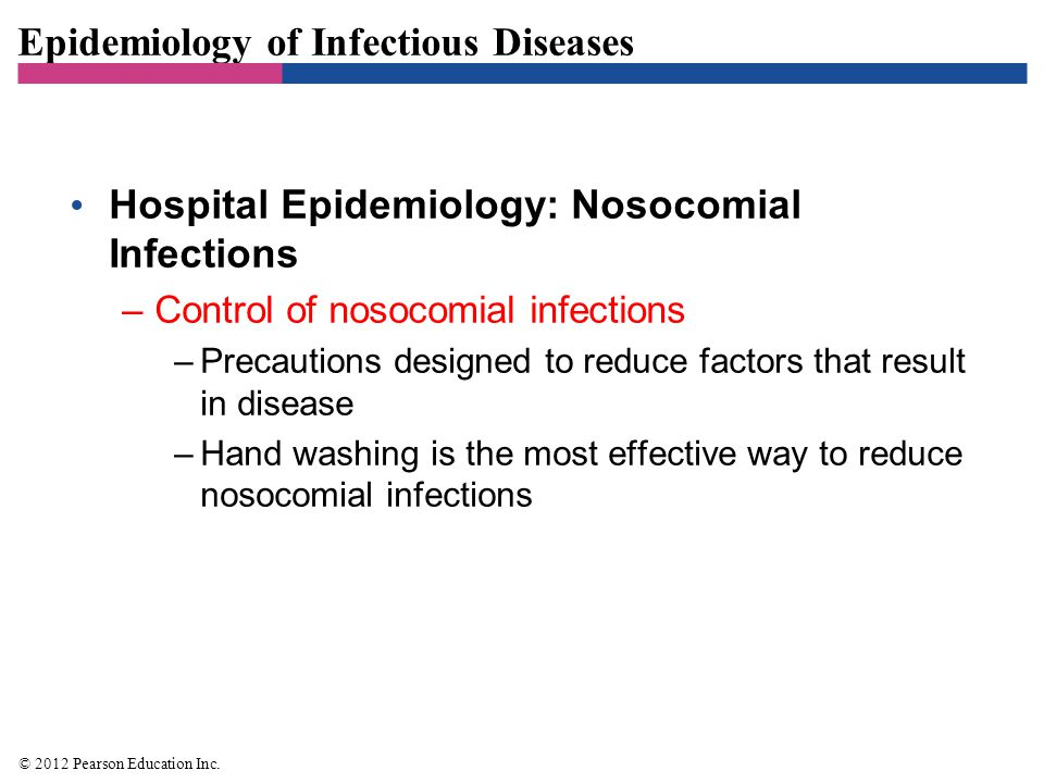 Epidemiology of Infectious Diseases