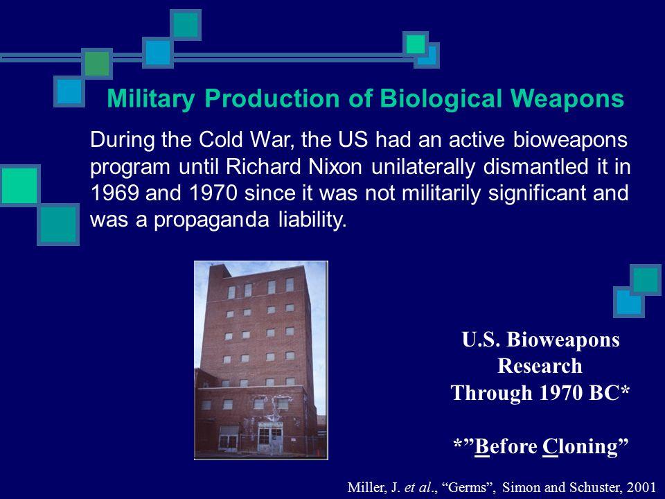 U.S. Bioweapons Research
