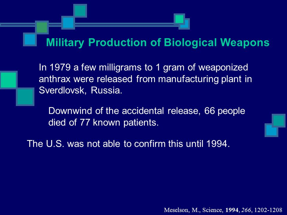 Military Production of Biological Weapons