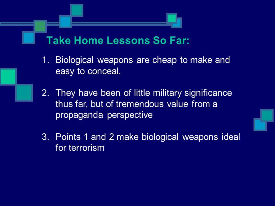 Take Home Lessons So Far: